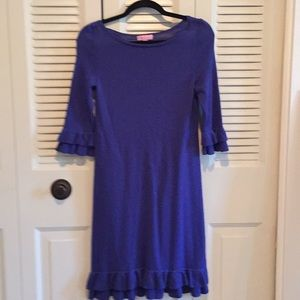 Lilly Pulitzer blue sweater dress. Size Small